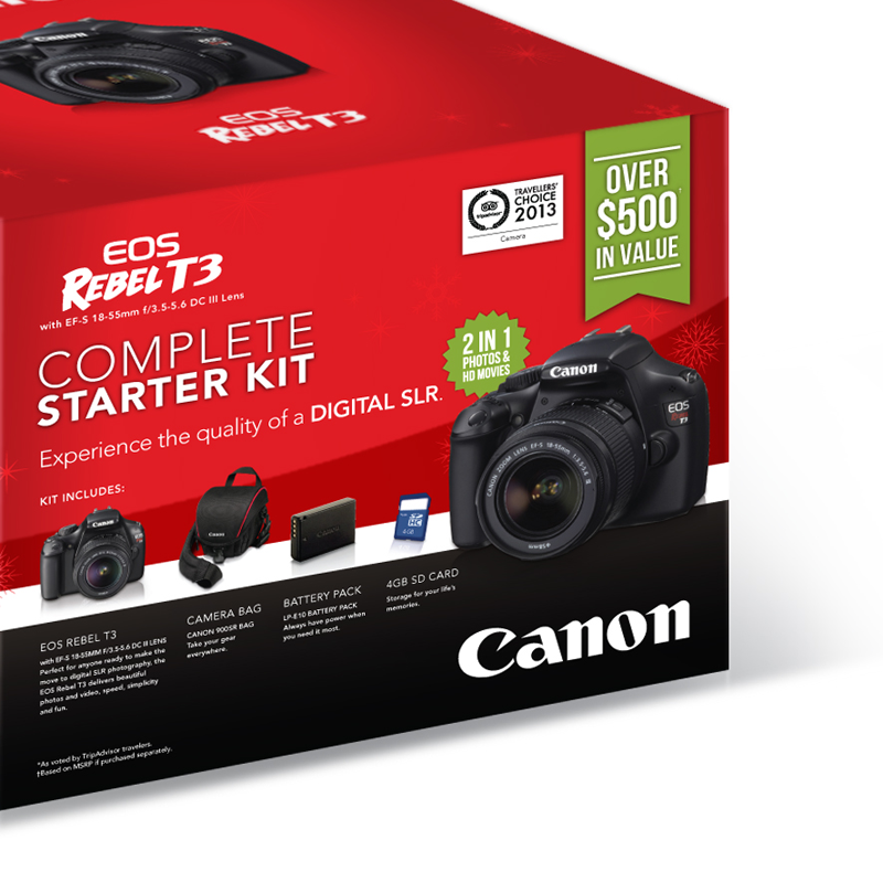 Canon Canada Bundle Box Packaging Design