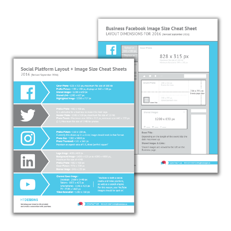 Social Media Cheat Sheet for Image Sizes