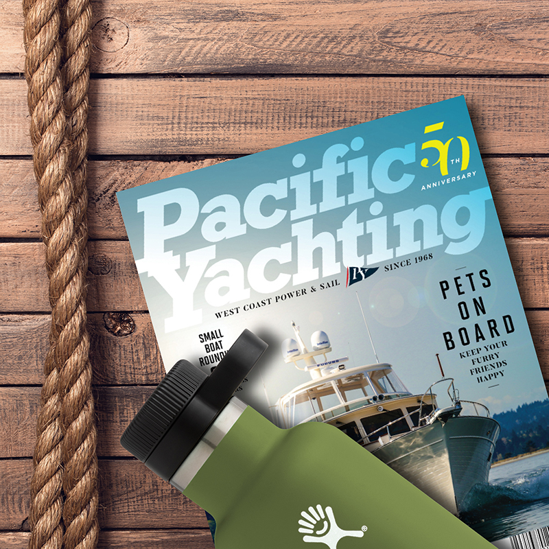 Hydro Flask in Pacific Yachting Magazine
